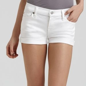 7 for all Mankind Rollup White denim short size 25